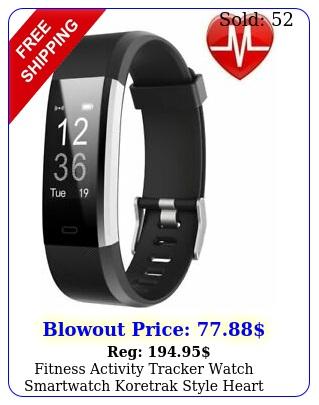 fitness activity tracker watch smartwatch koretrak style heart rate kore trac