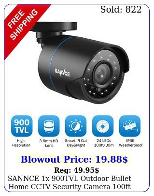 sannce x tvl outdoor bullet home cctv security camera ft ir night visio