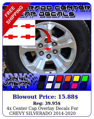 x center cap overlay decals chevy silverado wheel bowtie emble