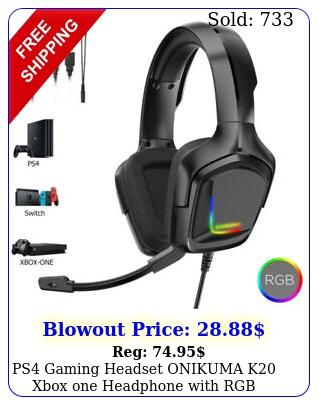 ps gaming headset onikuma k xbox one headphone with rgb surround sound mi