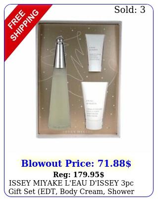 issey miyake l'eau d'issey pc gift set edt body cream shower crea