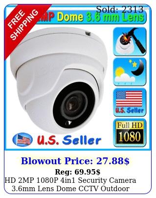 hd mp p in security camera mm lens dome cctv outdoor tvi ahd cvi et