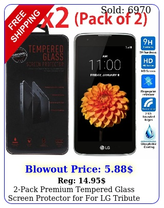 pack premium tempered glass screen protector for lg tribute  lg