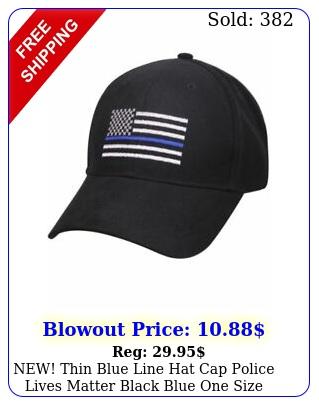 new thin blue line hat cap police lives matter black blue one size men adul