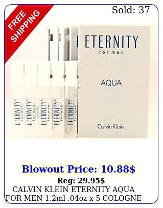 calvin klein eternity aqua men ml oz x cologne spray sample vial lo