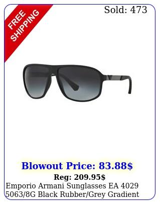 emporio armani sunglasses ea g black rubbergrey gradient mm