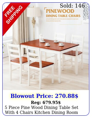 piece pine wood dining table set with chairs kitchen dining room furnitur