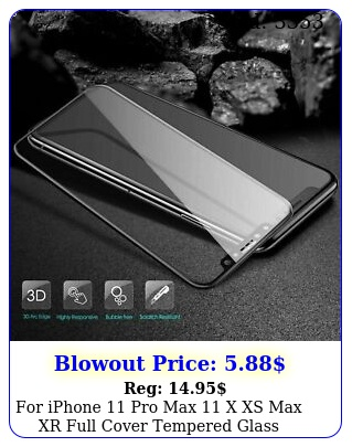 iphone pro max x xs max xr full cover tempered glass screen protecto