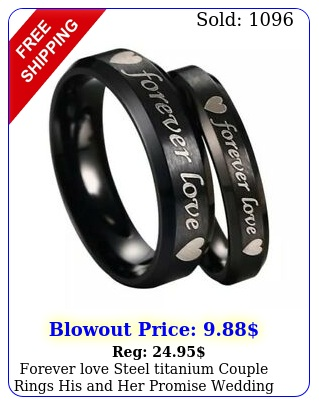 forever love steel titanium couple rings his promise wedding band ring