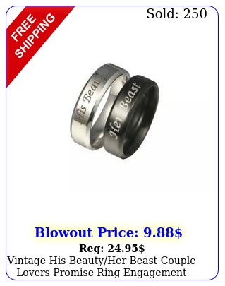 vintage his beautyher beast couple lovers promise ring engagement jewelry po