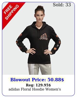 adidas floral hoodie women'