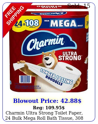 charmin ultra strong toilet paper bulk mega roll bath tissue sheet