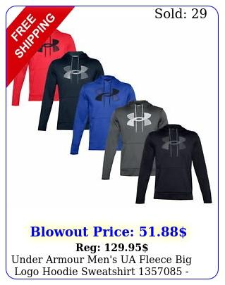under armour men's ua fleece big logo hoodie sweatshirt