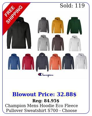 champion mens hoodie eco fleece pullover sweatshirt s choose size colo