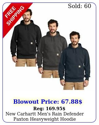 carhartt men's rain defender paxton heavyweight hoodie sweatshirt c