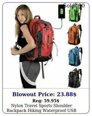 nylon travel sports shoulder backpack hiking waterproof usb laptop school bag u
