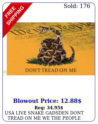 usa live snake gadsden dont tread on me we the people flag x flags d nylo