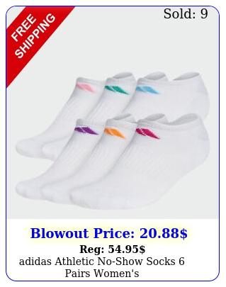 adidas athletic noshow socks pairs women'