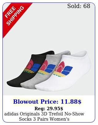 adidas originals d trefoil noshow socks pairs women'