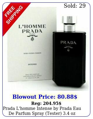 prada l'homme intense by prada eau de parfum spray tester o