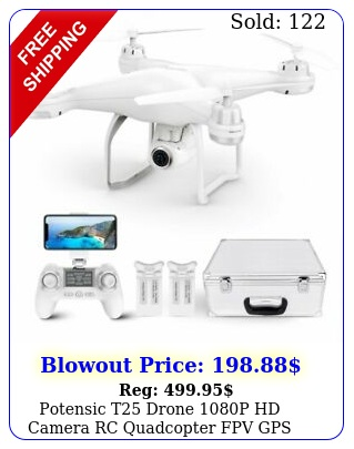 potensic t drone p hd camera rc quadcopter fpv gps drones with carry cas