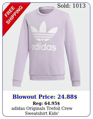 adidas originals trefoil crew sweatshirt kids