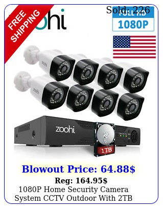 p home security camera system cctv outdoor with tb hard drive ch dvr kit