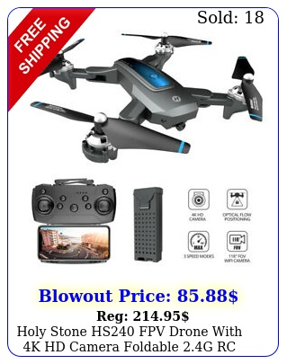 holy stone hs fpv drone with k hd camera foldable g rc quadcopter selfi