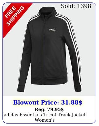 adidas essentials tricot track jacket women'