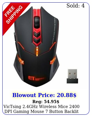 victsing ghz wireless mice dpi gaming mouse button backlit light u