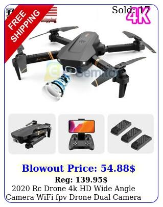 rc drone k hd wide angle camera wifi fpv drone dual camera rc quadcopte