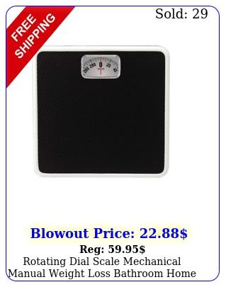 rotating dial scale mechanical manual weight loss bathroom home analog steel fi