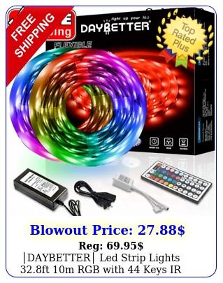 daybetter led strip lights ft m rgb with keys ir remote v powe