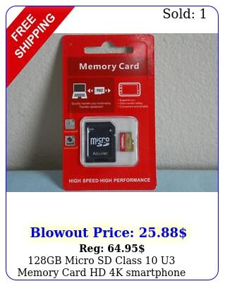 gb micro sd class u memory card hd k smartphone camera drone usa extrem