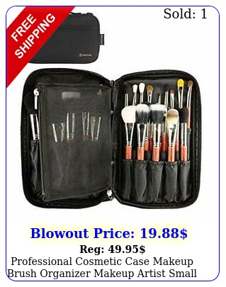 professional cosmetic case makeup brush organizer makeup artist small blac