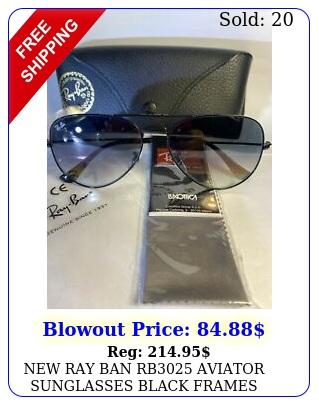 ray ban rb aviator sunglasses black frames gray lenses m