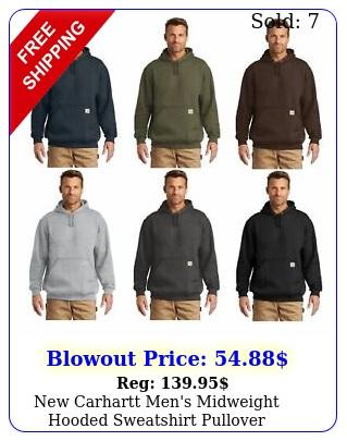 carhartt men's midweight hooded sweatshirt pullover workwear hoodie ct
