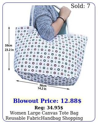 women large canvas tote bag reusable fabrichandbag shopping summer beach yog