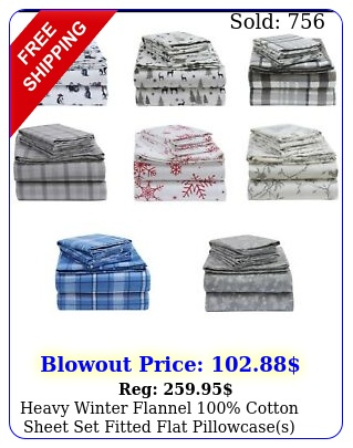 heavy winter flannel cotton sheet set fitted flat pillowcases deep pocke