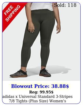 adidas x universal standard stripes tights plus size women'