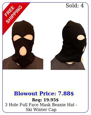 hole full face mask beanie hat ski winter ca