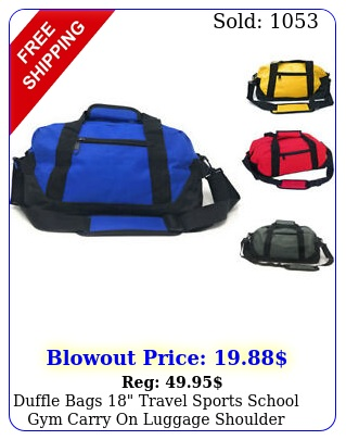 duffle bags travel sports school gym carry on luggage shoulder stra