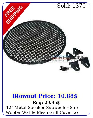 metal speaker subwoofer sub woofer waffle mesh grill cover w clips screw