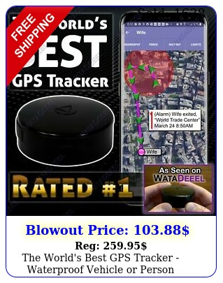 the world's best gps tracker waterproof vehicle or person tracking device sp