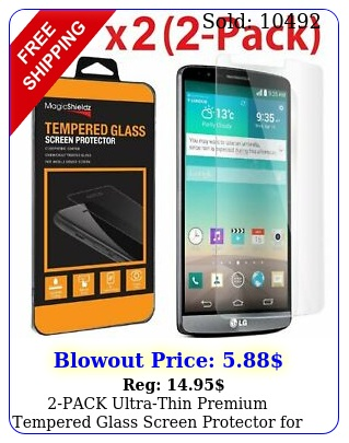 pack ultrathin premium tempered glass screen protector lg