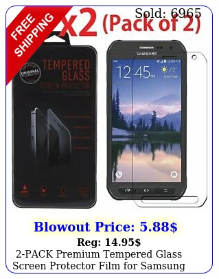 pack premium tempered glass screen protector film samsung galaxy s activ
