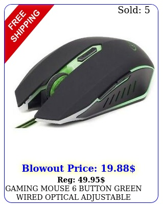 gaming mouse button green wired optical adjustable gembird mouse dp