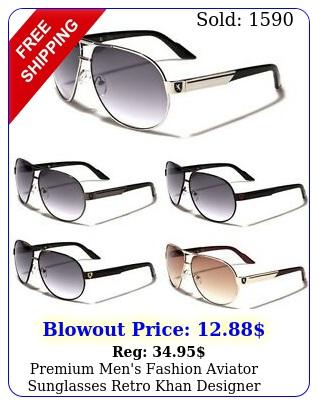 premium men's fashion aviator sunglasses retro khan designer glasses black blu