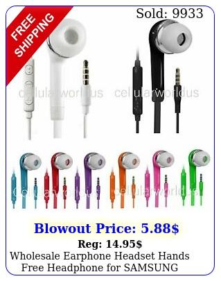 wholesale earphone headset hands free headphone samsung galaxy s s s not
