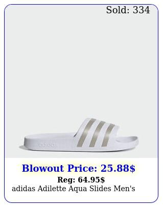 adidas adilette aqua slides men'